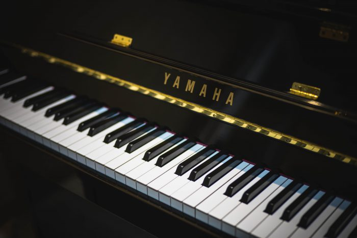 dark shiny Yamaha piano